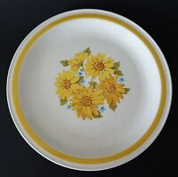 "Montgomery Ward Ironstone Melody Round Serving Platter Japan 12"" Yellow Daisies"
