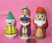 Christmas ORNAMENTS Decorations 7 Genuine HAND PAINTED SOBOR Church Set