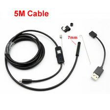 5M 7mm Android Endoscope Borescope Snake Inspection Camera for Mobile Phone