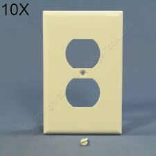 10 Light Almond Mid-Size Unbreakable Receptacle Wall Plate Outlet Covers PJ8LA