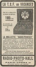 Y8705 La Mallette RADIO-PERFECT - Pubblicità d'epoca - 1928 Old advertising