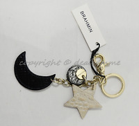 NWT Brahmin Celestial Cluster Key Fob /Bag Charm in Cava Melbourne Leather/Brass