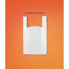 Lot 100 sacs plastique blanc bretelles 260 x 450 x 60 mm