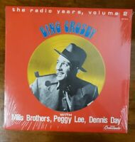 THE RADIO YEARS,  VOL. 2 by BING CROSBY (VINYL LP, 1985, CRESCENDO) New, Sealed