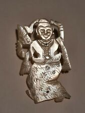 of Pearl Dancing Goddess 4 Antique Asian C Clasp Brooch Mother