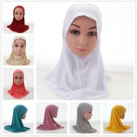 Ramadan Muslim Kids Girls Scarf Hijab Islamic Arab Hijab Shawls Child Headscarf