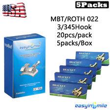 Orthodontic Dental Mini Brackets Braces Metal Mbtroth 022 3345hooks 100braces