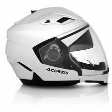 CASCO ACERBIS STRATOS BIANCO 2016 SUNRISE CROSSOVER MOTO SCOOTER
