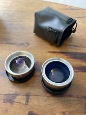 2 lenses professional digital camera lenses macro vision optics used