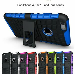 SLIM Shockproof Tough Heavy Duty Tradie Case Cover for iPhone 5S 6S 7 8 nonoem