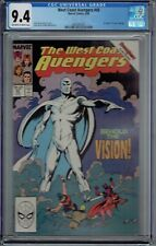 CGC 9.4 WEST COAST AVENGERS #45 1ST COLORLESS VISION AVENGERS 57 HOMAGE COVER