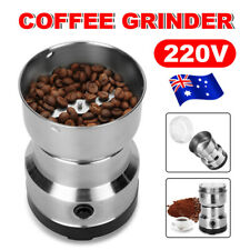 Electric Coffee Grinder Grinding Milling Spice Matte Stainless Steel Blender AU