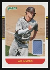 2021 DONRUSS WIL MYERS RETRO 1987 MATERIALS GAME USED JERSEY RELIC PADRES