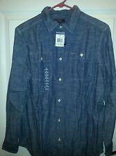 Nwt Boys Polo By Ralph Lauren Chambray Denim Button Down Shirt Size 18-20 XL.