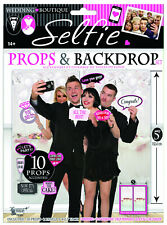 Wedding Photo Booth Props & Background selfie