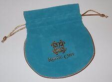 1 - RUSTIC CUFF TEAL VELVET  BRACELET JEWELRY STORAGE GIFT BAG #6254