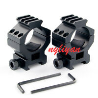 Metal 2PCS 30mm Ring Top 20mm Picatinny Rail Scope Mount for Rifle Hunting