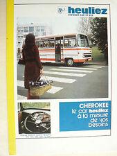 Catalogue Car HEULIEZ  Cherokee   1975      Prospectus  brochure  Bus