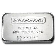 10 oz Silver Bar - Engelhard (Wide, Struck, Logo Reverse) - SKU #43502