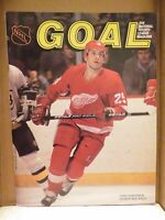 GOAL MAGAZINE---DETROIT vs. NEW JERSEY from the 1984-1985 Hockey Season