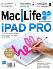 Mac Life Magazine February 2016 iPad Pro Review SPOTLIGHT OS X Icons iPhone MAC