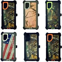 For Samsung Galaxy Note 10 10+ Plus Defender Camo Case W/Belt Clip Fits Otterbox
