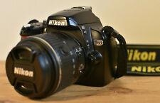 NIKON D60 DSLR CAMERA KIT WITH NIKKOR LENS BATTERY CHARGER STRAP BAG & 16GB SD