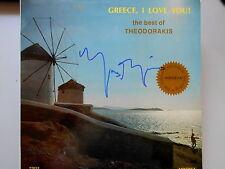 "MIKIS THEODORAKIS original signiert – LP ""GREECE, I LOVE YOU"""