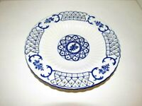 Hand Painted Blue & White Porcelain Wall Reticulated 10 1/4""
