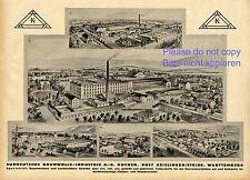 Cotton industry Kuchen Germany german ad 1935 Geislingen cloth xc