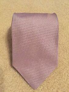 Hugo Boss Mens Textured Lavender Necktie Silk Blend Made In Italy