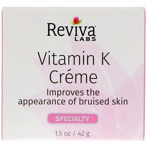 Reviva Labs Vitamin K Creme 1 5 oz 42 g Cruelty-Free, Not Tested on Animals,
