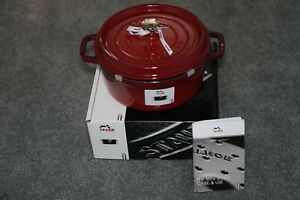 New in Box! Staub 1102406 Round Cocotte Oven (Dutch Oven) 4 Quart, Cherry Red