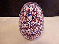 """Murano Antica Murrina Veneziana Art Glass Paperweight, 2 7/8""""  tall  Milliefiori"""