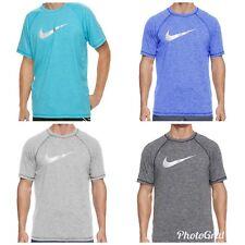 outlet store fb0f1 23ef2 Nike Mens Dri-fit Hydro Rash-guard Swim T-shirt Gray Ness8536 Size