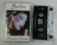 "1982 Berlin ""Pleasure Victim"" Audio Cassette Tape Geffen Records New Wave C Pics"