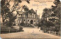 1912 Postcard Stiles Hall Exterior UC Berkeley Campus - Student Writing Home