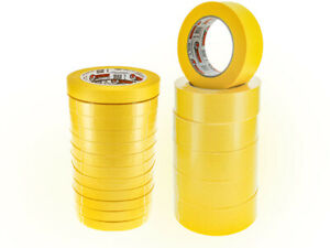 "3 ROLLS  High Temperature Automotive  Yellow Masking Tape 1.41"" X 60 Y"