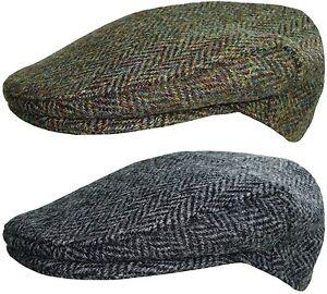 Hommes Harris Tweed Plat Casquette Pays Style Gavroche Capuchons Chapeau
