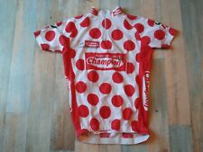 MAILLOT CYCLISTE TOUR DE FRANCE POIS ROUGES CHAMPION TAILLE XS/1 TBE