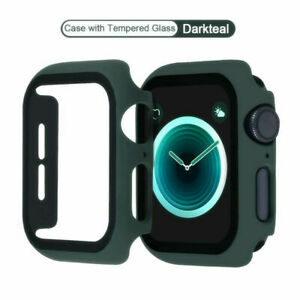 For Apple Watch Series 6/5/4/SE40/44mm Full Screen Protector Glass Bumper Case