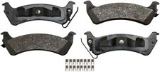 Disc Brake Pad Set-ProSolution Semi-Metallic Brake Pads Rear Monroe FX666