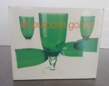 Green 14 ounce Acrylic All purpose Goblet Set of 6 six Wine Cup