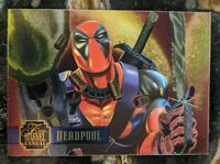 1995 FLAIR MARVEL ANNUAL - POWER BLAST INSERT CARD 17 of 24 Deadpool