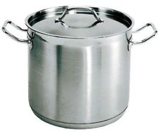 Set of 2x Stainless Steel Stock Pot 21 Cm 6 Litres