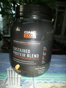 GNC AMP Sustained Protein Blend - Orange Creamsicle, 28 Servings, High-Quality