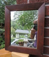 Antique PRIMITIVE American  Victorian Mirror WOOD Picture Frame 1830-40s