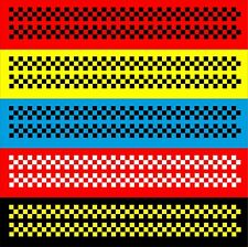 2 x 2m Seitenstreifen Aufkleber Racing Flag Schachbrett Karo Muster