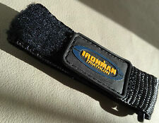 Mens Large 16-20mm Nylon Sport Timex Black/Yellow Ironman Triathlon Watch Band