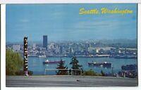 Seafirst Building, Totem, Ferry, Ships, Tugs 1970s Seattle WA Postcard